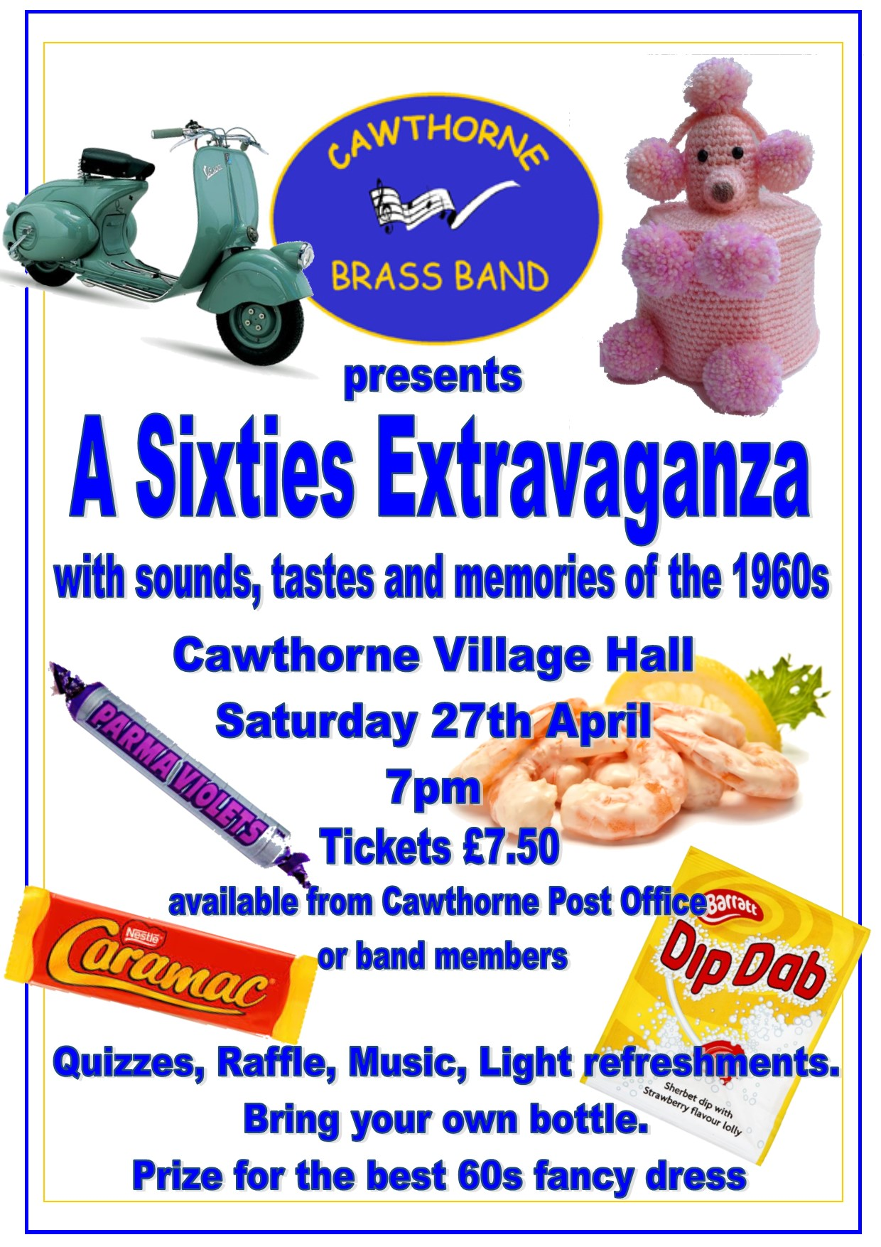 poster for the Sixties Extravaganza event
